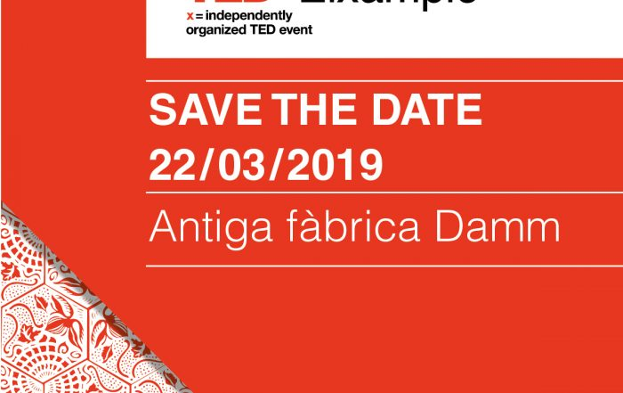 save the date TEDx Eixample