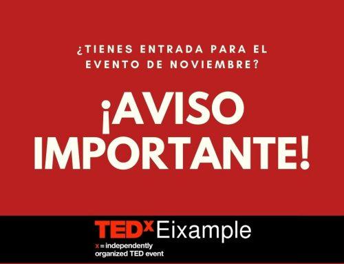 Aplazamiento definitivo de TEDxEixample 2020
